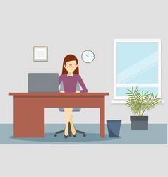design of business office environment vector image