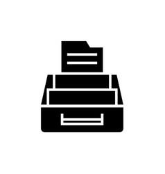 document archive icon black vector image
