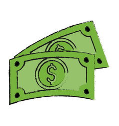 Dollar billets money related icon image vector