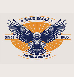 Eagle badge design vector