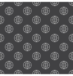 Earth globe dark pattern vector image