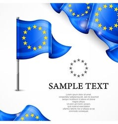 European flag banners with vector image