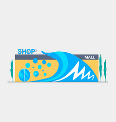 facade shop for design banner or brochure vector image