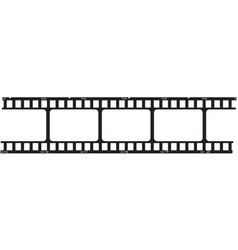 Filmstrip logo template vector