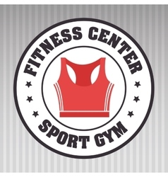 Fitness center sportswear gym vector