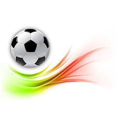 football on abstract shape smoke vector image
