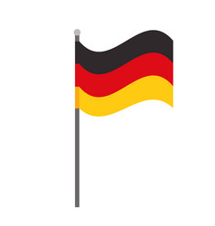 germany flag national symbol isolated vector image