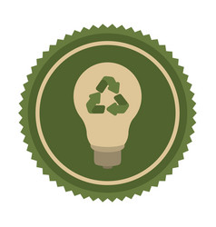 green eco bulb icon vector image