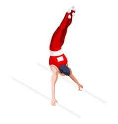 Gymnastics Parallel Bars 2016 Sports 3D vector