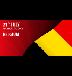 independence day of the belgium flag and vector image