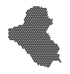 iraq map abstract schematic from black triangles vector image