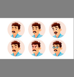 Italian man avatar creative italian man vector