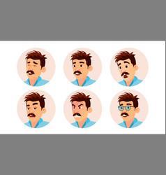 Italian man avatar creative man vector