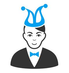 joker flat icon vector image
