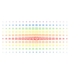 license spectral halftone pattern vector image