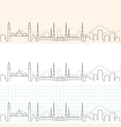 Medina hand drawn skyline vector