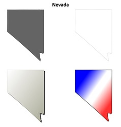 Nevada outline map set vector