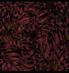 Palm monstera seamless pattern vector