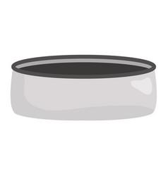 pet dish empty icon vector image