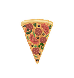 Pizza piece isolated food icon italian fastfood vector
