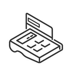 POS-terminal line icon vector