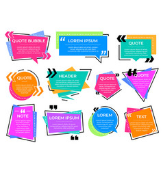quote text frames information bubbles note vector image