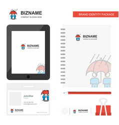 Raining business logo tab app diary pvc employee vector