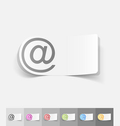 realistic design element email vector image
