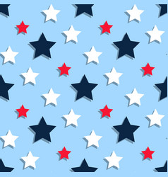 Red white blue stars on a blue background vector
