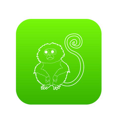 rhinopithecus icon green vector image