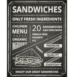 Sandwich poster vector image