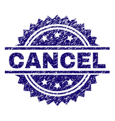 Scratched textured cancel stamp seal vector