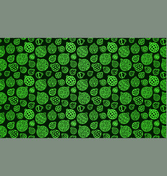 seamless pattern with green christmas toys vector image