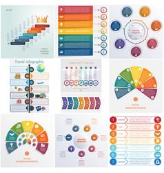 Set 10 universal templates elements infographics vector