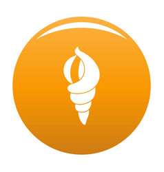 shell as house icon orange vector image