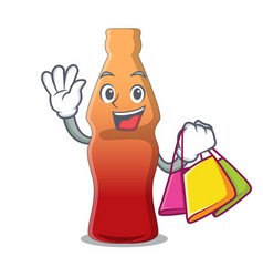 Shopping cola bottle jelly candy character cartoon vector