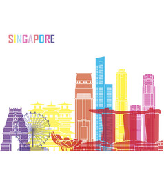 Singapore v2 skyline pop vector