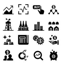 stock market stock exchange icons vector image
