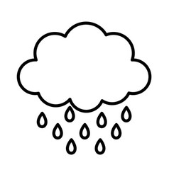 storm cloud rain drops weather design icon thick vector image
