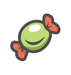 sweet candy lollipop icon cartoon vector image