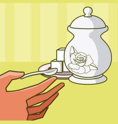 Tea drink kettle vector