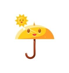 Umbrella Hot Under Sun vector image vector image