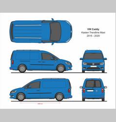 vw caddy kasten trendline maxi 2015-present vector image