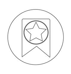 Web bookmark ribbon icon design vector