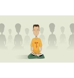 Yoga pose skill vector image