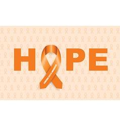 leukemia cancer ribbon vector image vector image
