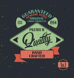 original product vintage label design vector image