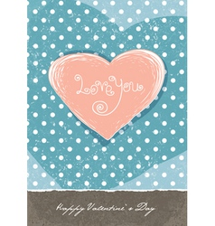valentines retro vector image