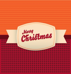 vintage merry christmas card vector image