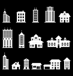 Building set 3 - White vector image